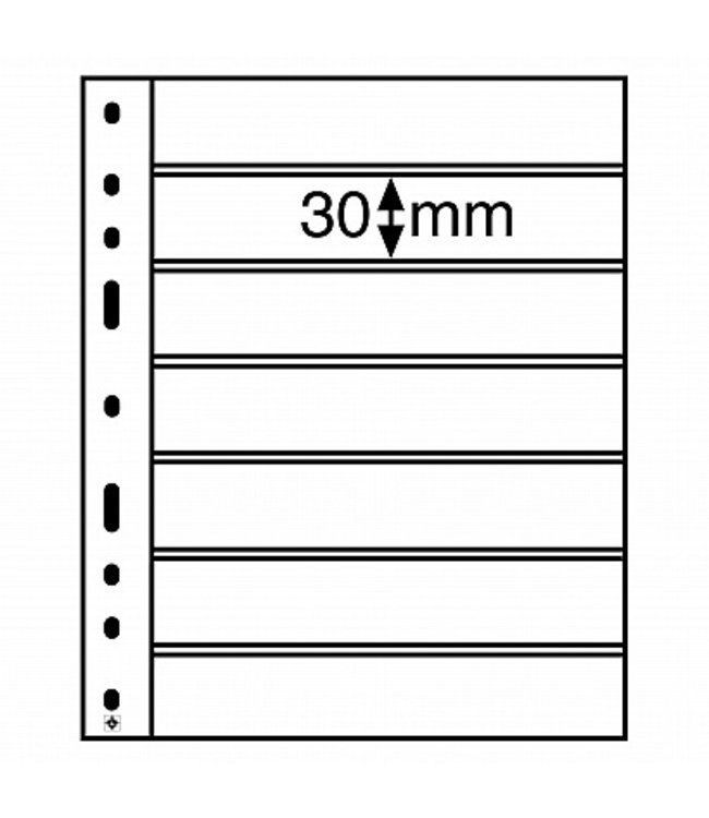 Optima Insert Stock Sheets / Black / With 7 Clear Strips