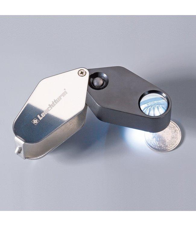 LED Folding Magnifier / 10X Magnification / Ø 18 mm