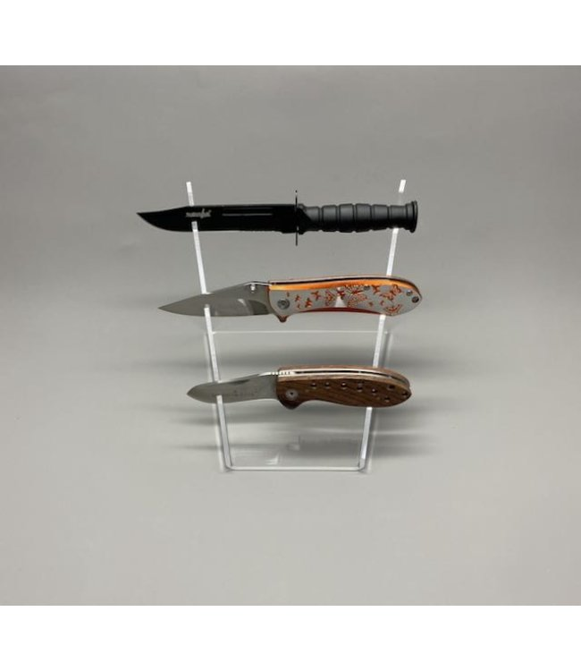 Display for 3 Knives / Stepwise / Acrylic