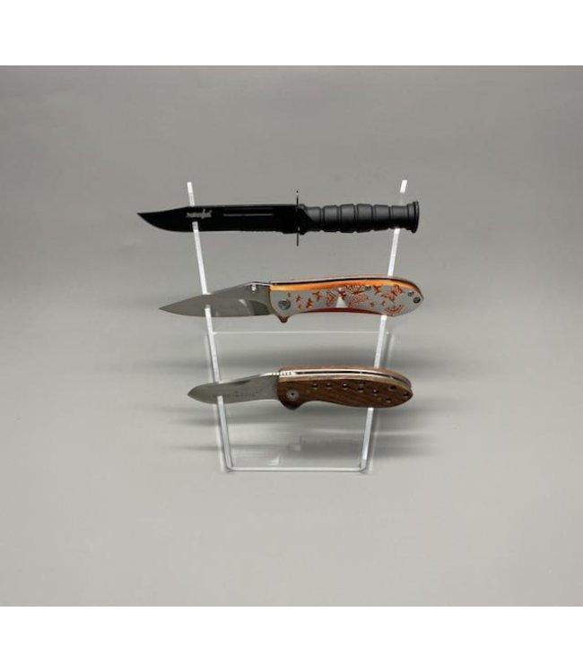 Display Voor 3 messen / Trapsgewijs / Acryl