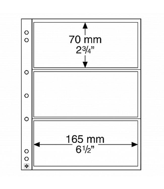 HüllenfürBanknoten / Numis / 3 Fächer / 10er Pack