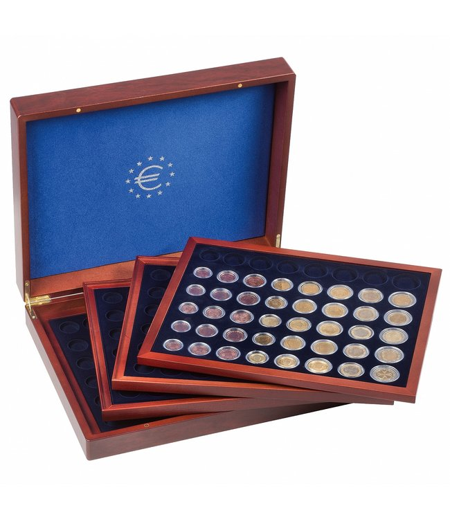 Presentation Case Volterra For 24 Euro Coin  Sets In Capsules