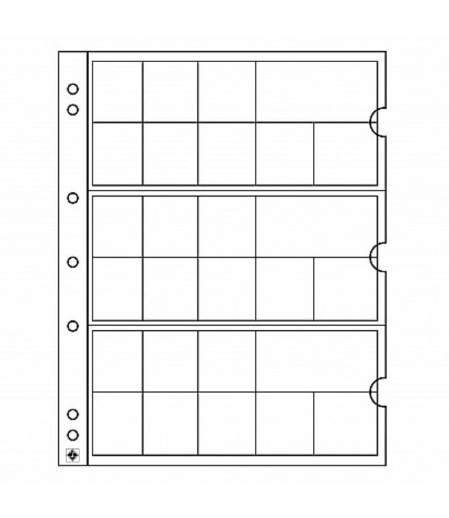 Muntbladen Numis / Voor 3 Complete Euro-Munten Sets