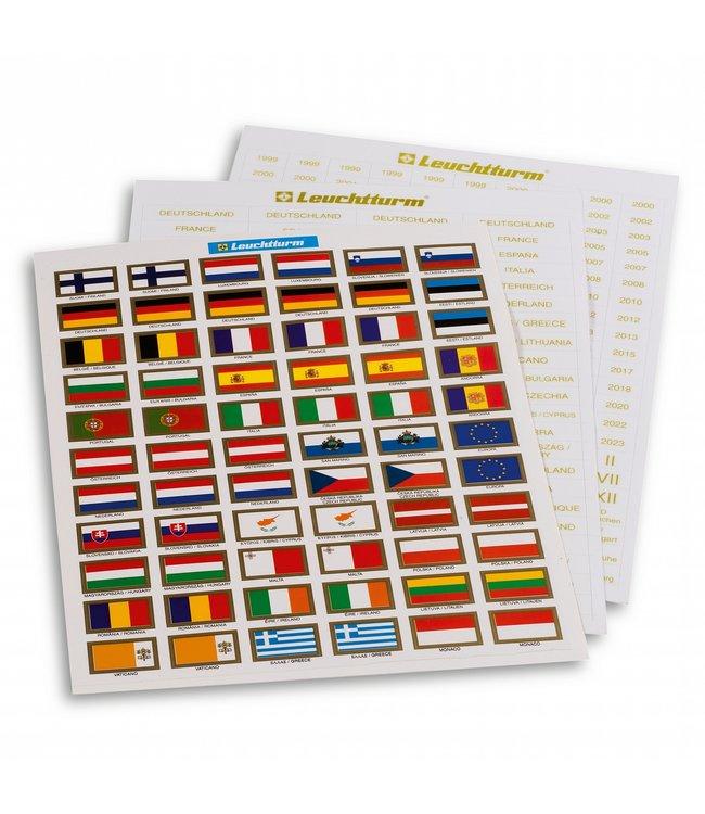Etiketten Voor Euro Munten