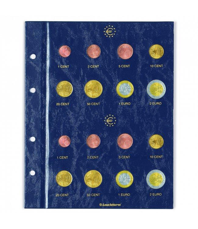 Münzblätter Vista Für Euro Kursmünzen