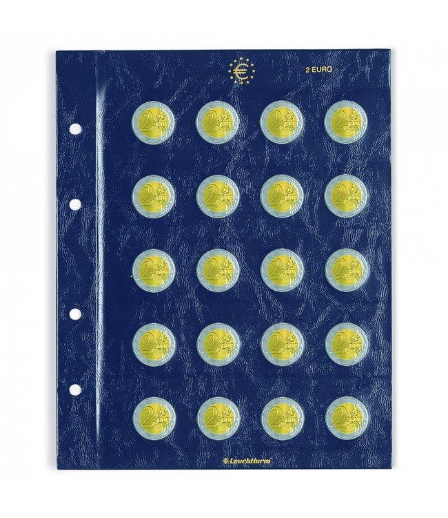 Coin Sheets Vista For 2 Euro Coins