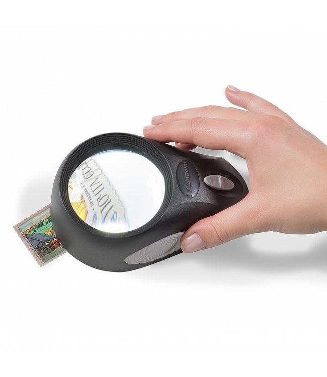 LED-Standlupe / 5-Facher Vergrößerung