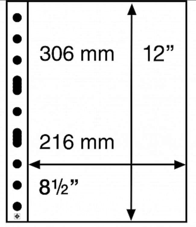 Plastic Pocket Sheets Grande / 1 Pocket