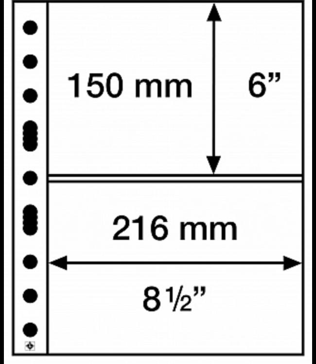 Plastic Pocket Sheets Grande 2-Way Division