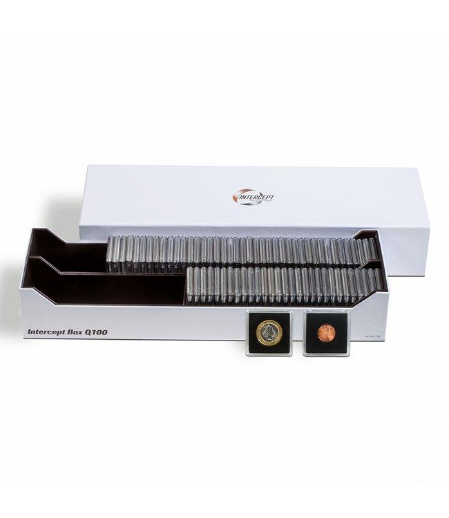 Intercept Q 100 Box For Quadrum Coin Capsules /  Coin Holders