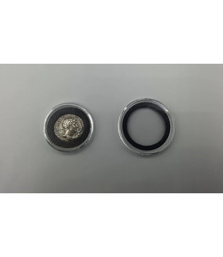 Air-Tite Round Coin Capsules / Black Inlay