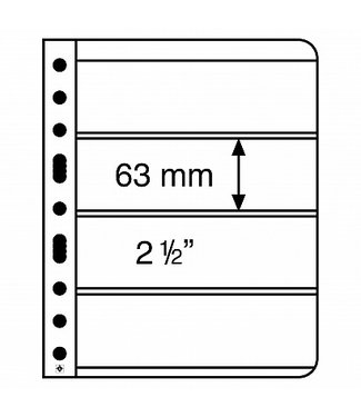 Leuchtturm (Lighthouse) Plastic Pockets Vario / 4-Way Division (Horizontal)