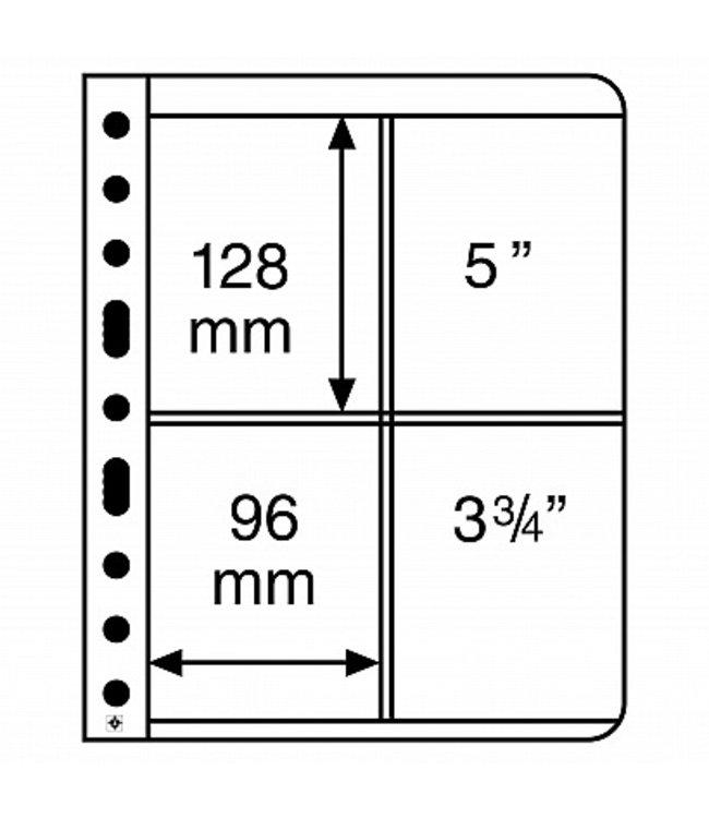 Kunstoffhüllen Vario / 4er-Einteilung