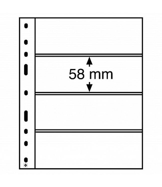 Kunststoffhüllen Optima / 4er Einteilung