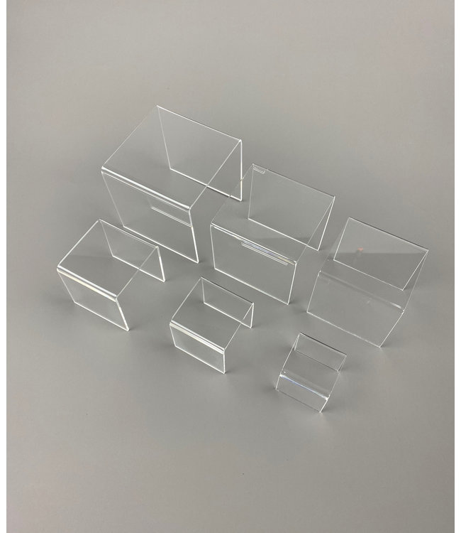 Clear Acrylic Risers / Set Of 6