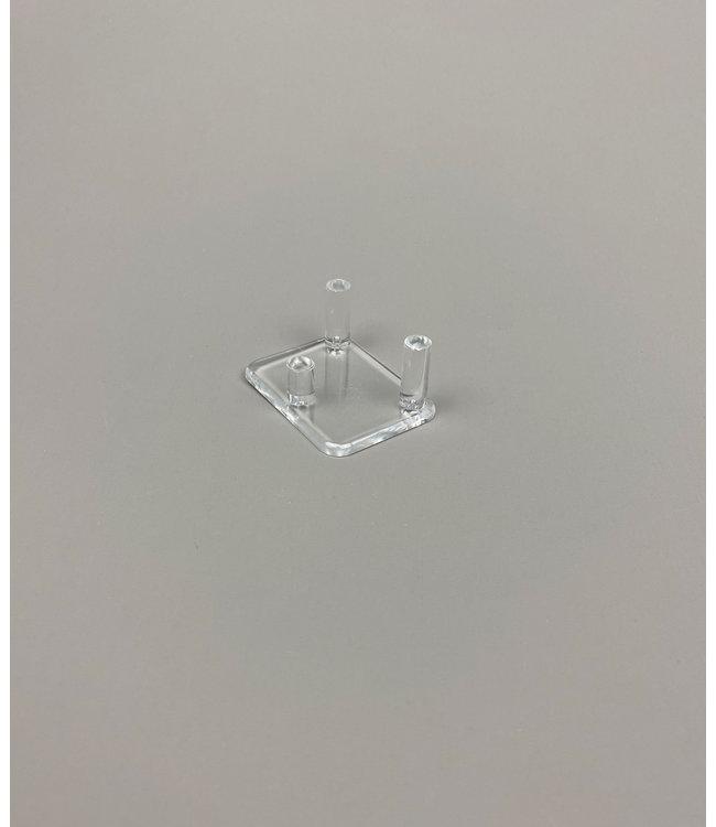 Rechthoekig Acryl 3-Pins Display Voor Stenen / Mineralen / Fossielen / Geodes