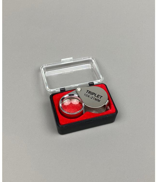 Juweliers Pocket Loep 10 x 21mm