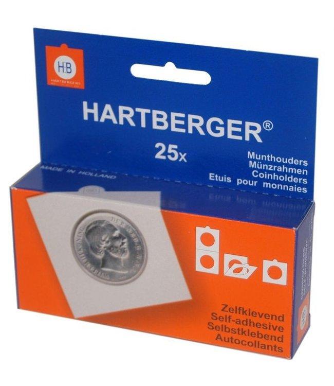 Munthouders  / 24 mm x 24 mm / Vierkant / Zelfklevend