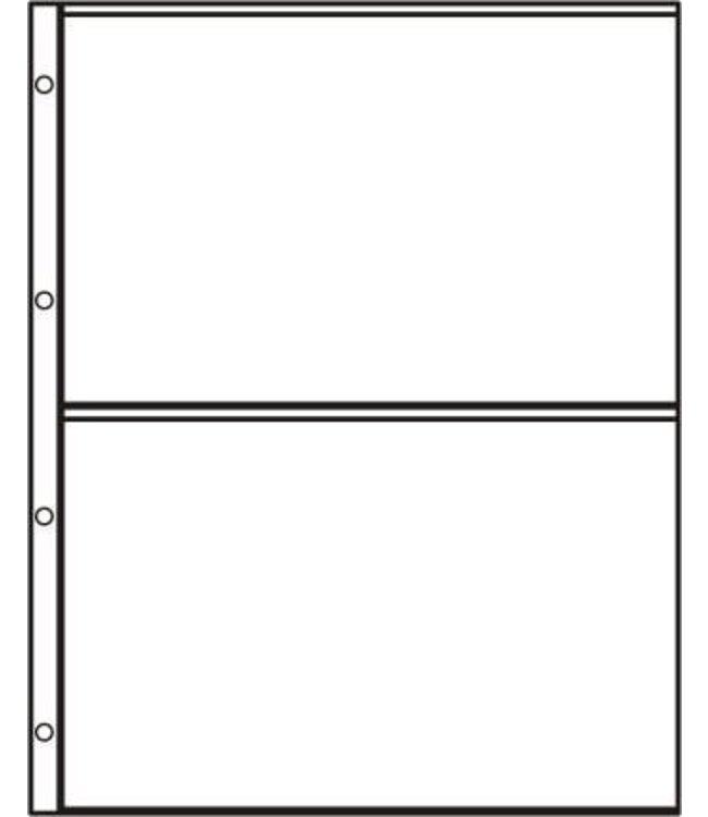 Kunststoffhüllen S2 / 2er Einteilung