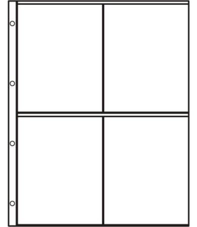 Kunststoffhüllen S-2x2 / 4er Einteilung