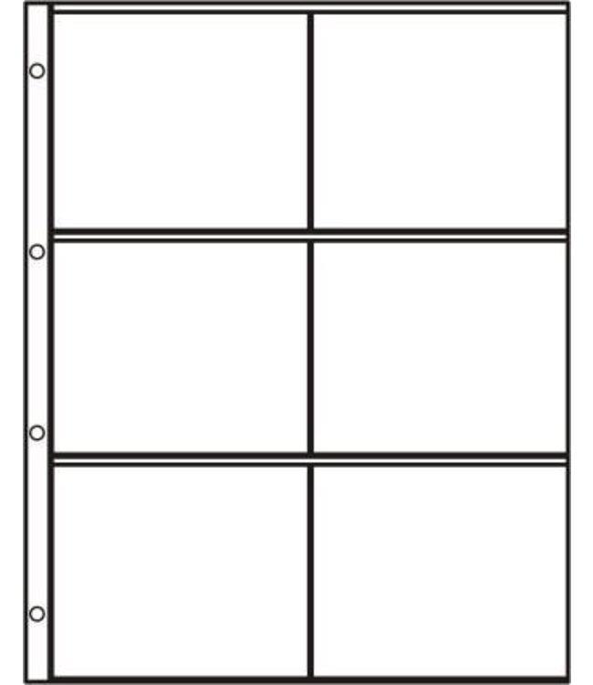 Kunststoffhüllen S-2x3 / 6er Einteilung