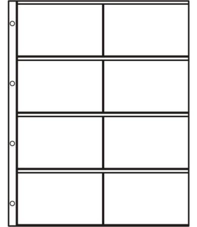 Kunststoffhüllen S-2x4 / 8er Einteilung