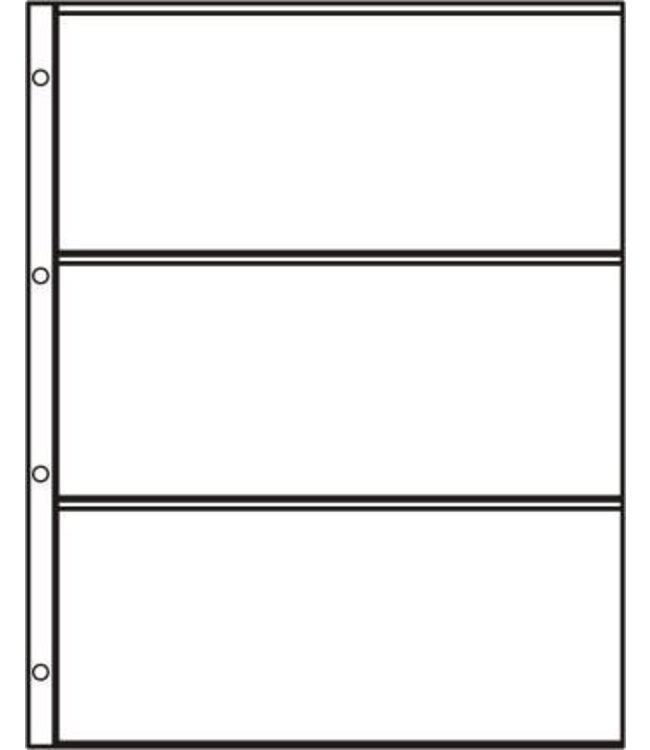 Kunststoffhüllen S-3 / 3er Einteilung