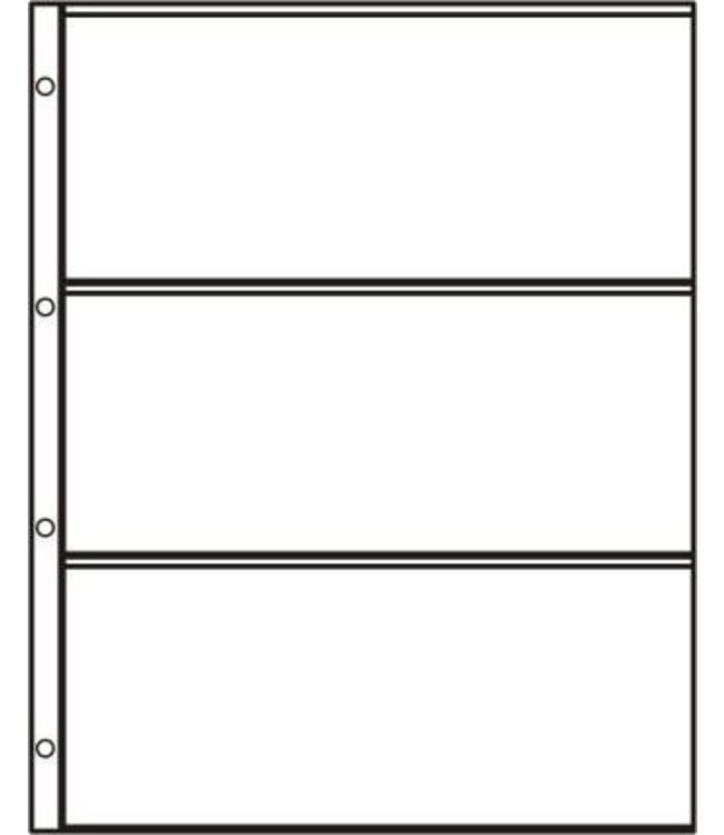 Plastic Sheets S-3 / 3 Compartments