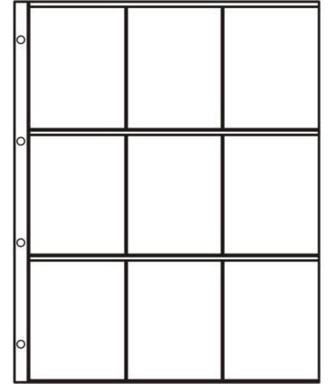 Kunststoffhüllen S-3x3 / 9er Einteilung