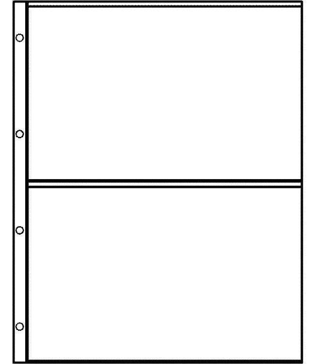 Plastic Sheets Euro-System E-2 / 2 Compartments