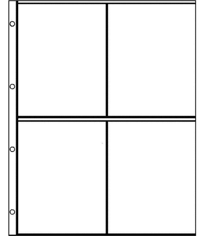 Kunststoffhüllen Euro-System E-2x2 / 4er Einteilung