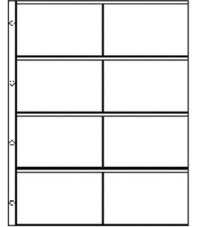 Kunststoffhüllen Euro-System E-2x4 / 8er Einteilung