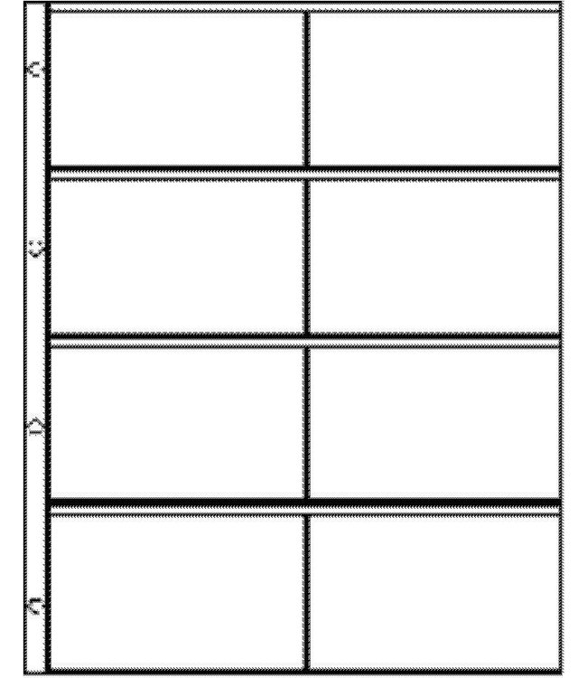 Plastic Sheets Euro-System E-2x4 / 8 Compartments