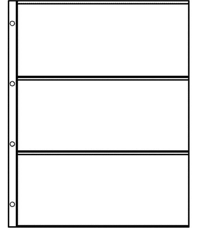 Plastic Sheets Euro-System E-3 / 3 Compartments