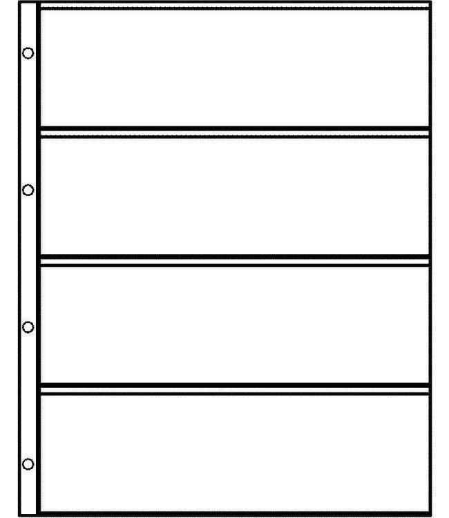 Plastic Sheets Euro-System E-4 / 4 Compartments