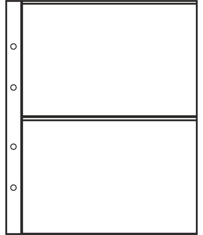 Plastic Sheets Combi 2 / 2  Compartments