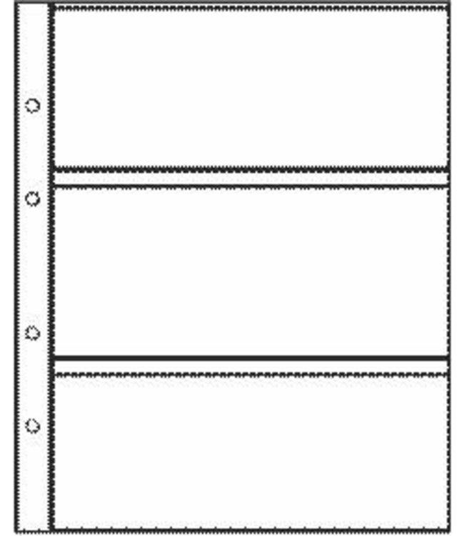 Kunststoffhüllen Combi 3 / 3er Einteilung