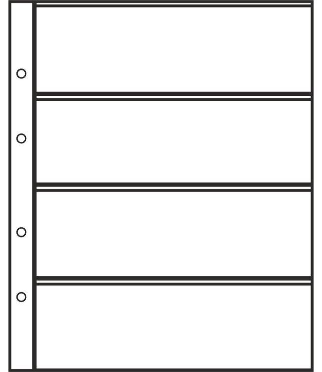 Kunststoffhüllen Combi 4 / 4er Einteilung