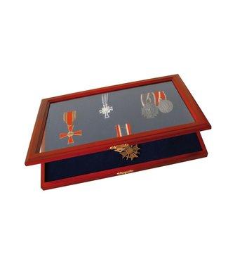 SAFE Houten Vitrine Voor Medailles / Onderscheidingen / Pins