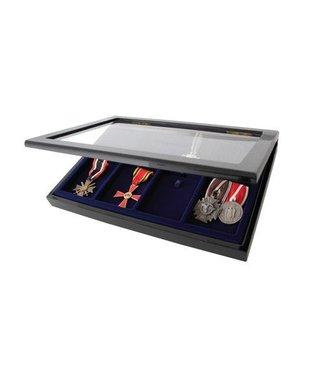 SAFE Houten Vitrine / Zwart / Voor Medailles / Onderscheidingen