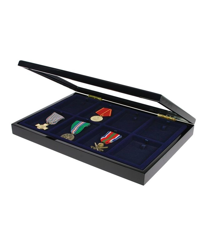 Wooden Display Case / Black / For Medals / Decorations