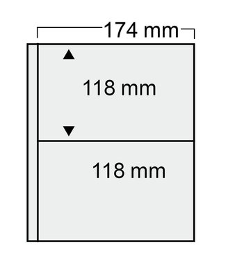 SAFE Plastic Sheets Compact / 2 Compartments