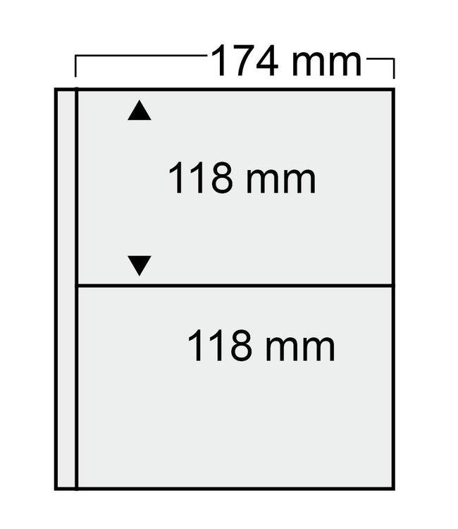 Plastic Sheets Compact / 2 Compartments