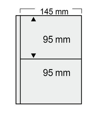SAFE Kunststoffhüllen Compact / Alte Postkarten / 2er Einteilung
