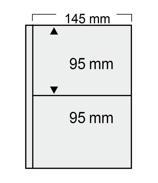 Kunststoffhüllen Compact / Alte Postkarten / 2er Einteilung
