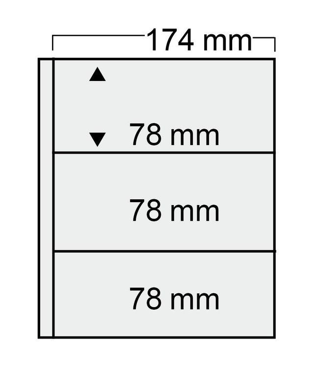 Kunststoffhüllen Compact / 3er Einteilung