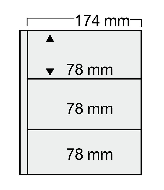 Plastic Sheets Compact / 3 Compartments