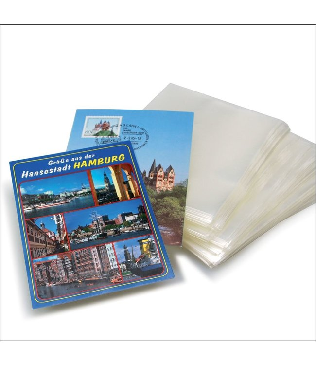 Schutzhüllen Für Briefe Und Ansichtskarten / 100-er Pack