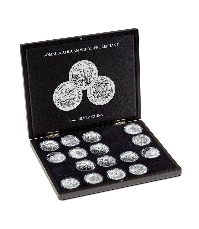 Muntcassette Voor 20 SomaliaElephant Silver Coins (1 OZ.)