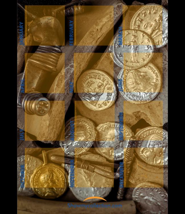 Calendar Coin Treasure